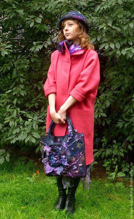"""Верхняя одежда ручной работы. Ярмарка Мастеров - ручная работа. Купить Пальто валяное """"Милашка"""". Handmade. Коралловый, хендмейд, розовый"""