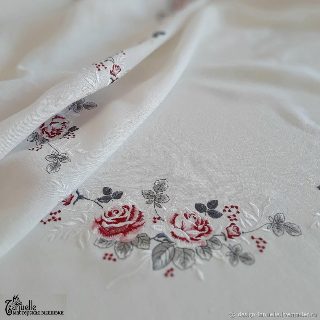 Дизайн программа для машинной вышивки Роза бело-розовая, Схемы для вышивки, Сергиев Посад,  Фото №1