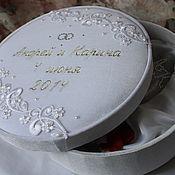 Свадебный салон handmade. Livemaster - original item Wedding glasses with a monogram of the newlyweds in the box.. Handmade.