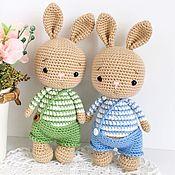 Куклы и игрушки handmade. Livemaster - original item Bunny. knitted toy.. Handmade.