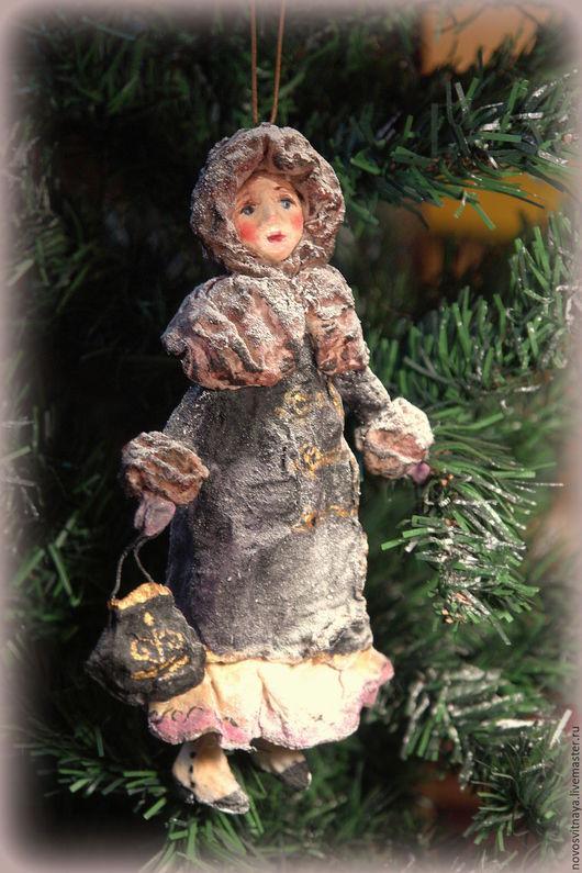 Коллекционные куклы ручной работы. Ярмарка Мастеров - ручная работа. Купить Аня.Елочная игрушка из ваты.. Handmade. Комбинированный