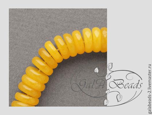 Для украшений ручной работы. Ярмарка Мастеров - ручная работа. Купить 10 шт Бусины нефрит натуральный тонированный диск 10 х 3 мм 073. Handmade.