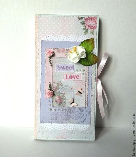 """Открытки для женщин, ручной работы. Ярмарка Мастеров - ручная работа. Купить Шоколадница """"Sweet Love"""". Handmade. Бледно-розовый"""