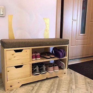 Обувница с мягким сиденьем