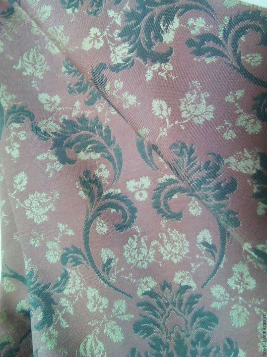 Текстиль, ковры ручной работы. Ярмарка Мастеров - ручная работа. Купить Портьерная ткань с классическим рисунком бруснично-серого цвета. Handmade.