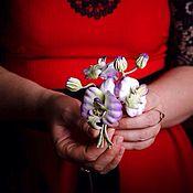 Украшения ручной работы. Ярмарка Мастеров - ручная работа Бархатные орхидеи. Handmade.