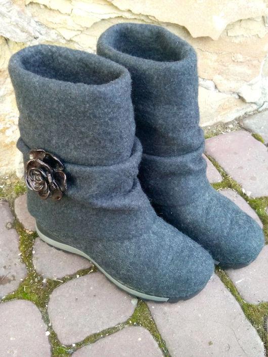 """Обувь ручной работы. Ярмарка Мастеров - ручная работа. Купить Валенки- трансформеры из натуральной шерсти """"black rose"""". Handmade."""