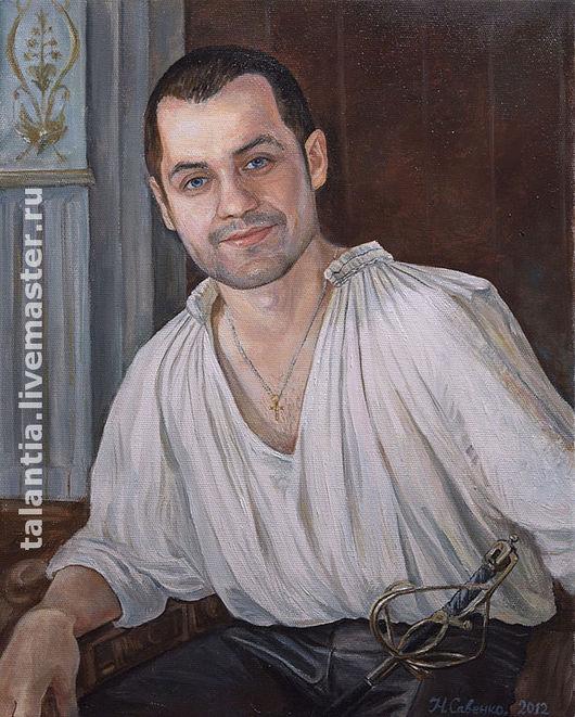 Подарки для мужчин, ручной работы. Ярмарка Мастеров - ручная работа. Купить Портрет в историческом костюме по фото.. Handmade. Портрет на заказ