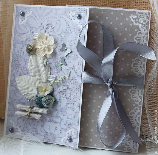"""Подарки на свадьбу ручной работы. Ярмарка Мастеров - ручная работа. Купить Конверт для диска """"Туман"""". Handmade. Серый, конверт на свадьбу"""