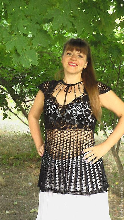Платья ручной работы. Ярмарка Мастеров - ручная работа. Купить Туника черная  АНТРАЦИТ. Handmade. Черный, Коктейльное платье