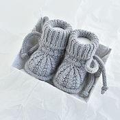 Одежда детская handmade. Livemaster - original item booties for newborn. Merino angora. Handmade.