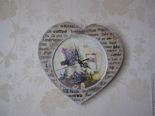 """Часы для дома ручной работы. Ярмарка Мастеров - ручная работа. Купить Настенные часы для дома """" Люблю кофе"""". Handmade."""