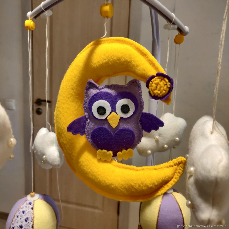 Совушка и воздушные шары, Мобили на кроватку, Вологда,  Фото №1