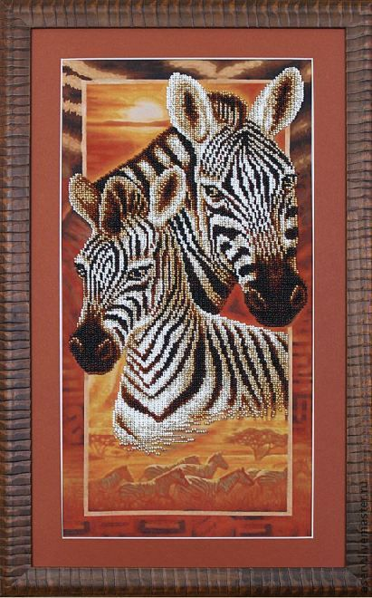 """Животные ручной работы. Ярмарка Мастеров - ручная работа. Купить Картина """"Африка: Зебры"""". Handmade. Африка, животные, зебры"""