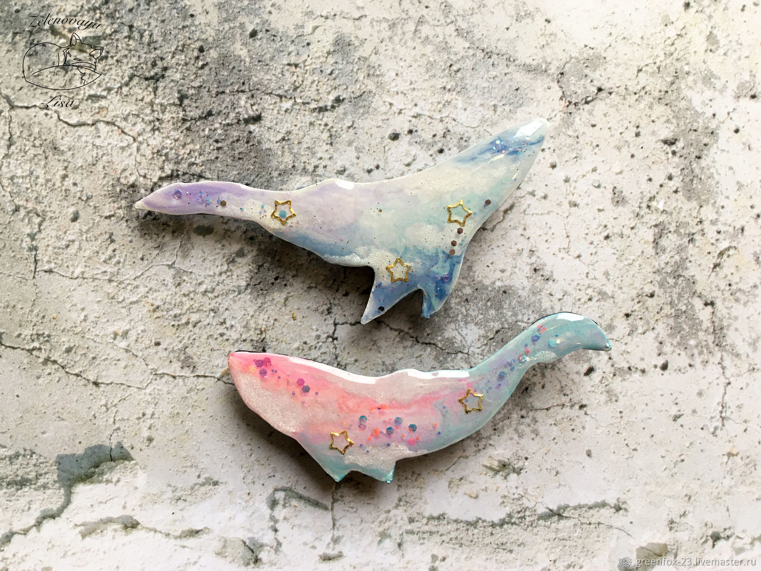 Brooch ' Gentle sky whale, blue, pink, with sequins', Brooches, Bryukhovetskaya,  Фото №1