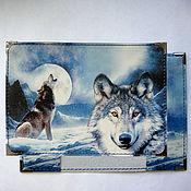 """Подарки к праздникам ручной работы. Ярмарка Мастеров - ручная работа обложка для паспорта """"Волк"""". Handmade."""