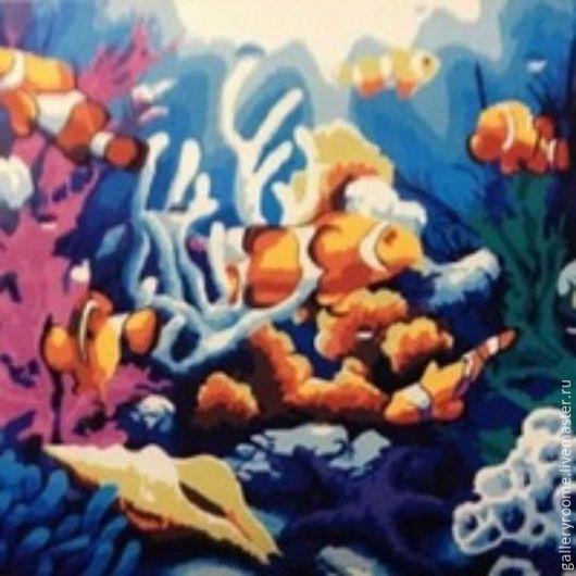 Другие виды рукоделия ручной работы. Ярмарка Мастеров - ручная работа. Купить Картина по номерам Коралловые рифы. Handmade. Кораллы