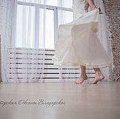 """Одежда ручной работы. Ярмарка Мастеров - ручная работа Юбка-солнце """"Танец белого лотоса"""". Handmade."""