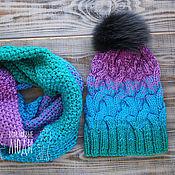 Вязание и шапка и снуд 98