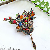 """Украшения handmade. Livemaster - original item Brooch """"Berries forest"""". Handmade."""