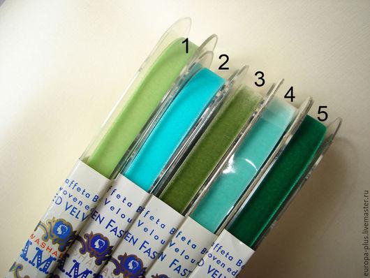 Шитье ручной работы. Ярмарка Мастеров - ручная работа. Купить Бархатная винтажная тесьма 15 мм. Handmade. Зеленый, винтажная