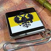 Сувениры и подарки handmade. Livemaster - original item Cigarette case for 20 cigarettes with symbols of RUSSIA