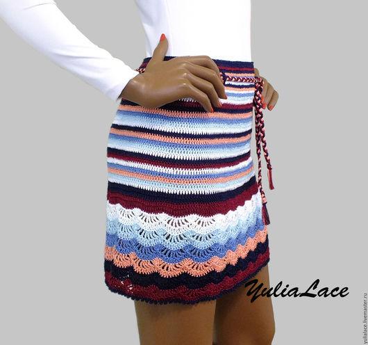 Юбки ручной работы. Ярмарка Мастеров - ручная работа. Купить Вязаная юбка. Handmade. Комбинированный, юбка летняя, вязаная юбка