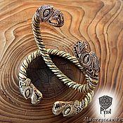 Украшения ручной работы. Ярмарка Мастеров - ручная работа Мужской браслет, браслет с драконом из бронзы. Handmade.