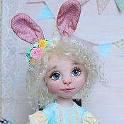 """Куклы и игрушки ручной работы. Ярмарка Мастеров - ручная работа Зайка """"Флора"""" текстильная кукла. Handmade."""