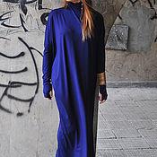 Одежда handmade. Livemaster - original item Long Maxi cotton dress, bright colors - DR0084TR. Handmade.