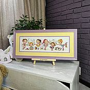 Картины и панно handmade. Livemaster - original item Picture embroidered with a cross in the children`s Ballerina. Handmade.