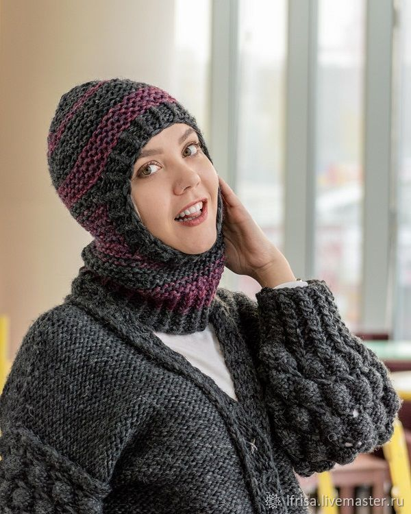 Balaklavas: Balaclava women's knitted hat, Balaclava, Novosibirsk,  Фото №1