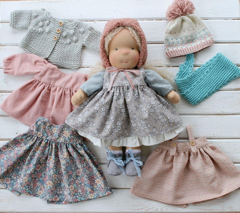 Вальдорфская кукла с набором одежды (возможен повтор на заказ), Вальдорфские куклы и звери, Новодвинск,  Фото №1