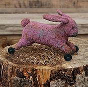 Куклы и игрушки ручной работы. Ярмарка Мастеров - ручная работа заяц. Handmade.