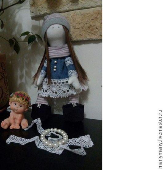 Куклы тыквоголовки ручной работы. Ярмарка Мастеров - ручная работа. Купить Кукла интерьерная. Handmade. Бежевый, кукла, подарок девушке