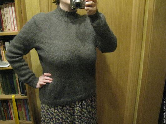 Кофты и свитера ручной работы. Ярмарка Мастеров - ручная работа. Купить Тонкий мохеровый пуловер. Handmade. Серый, мохеровый свитер