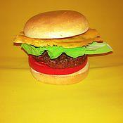 Дизайн и реклама ручной работы. Ярмарка Мастеров - ручная работа Гамбургер. Handmade.