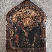 Иконы ручной работы. Ярмарка Мастеров - ручная работа Икона Святая Троица. Handmade.