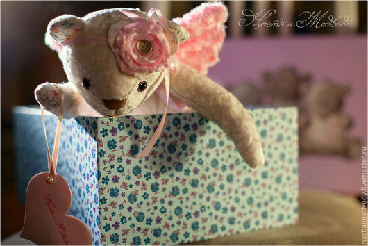 Мишки Тедди ручной работы. Ярмарка Мастеров - ручная работа. Купить Мишка Сара Ангелочек. Handmade. Белый, хб ткань