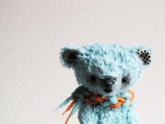 Мишки Тедди ручной работы. Ярмарка Мастеров - ручная работа. Купить Snoodie. Handmade. Бирюзовый, лазурный, медвежонок, лён