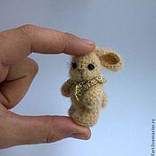 Куклы и игрушки ручной работы. Ярмарка Мастеров - ручная работа Мини-зайки.. Handmade.