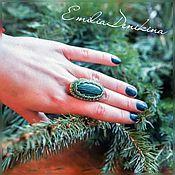 Украшения handmade. Livemaster - original item Ring with malachite