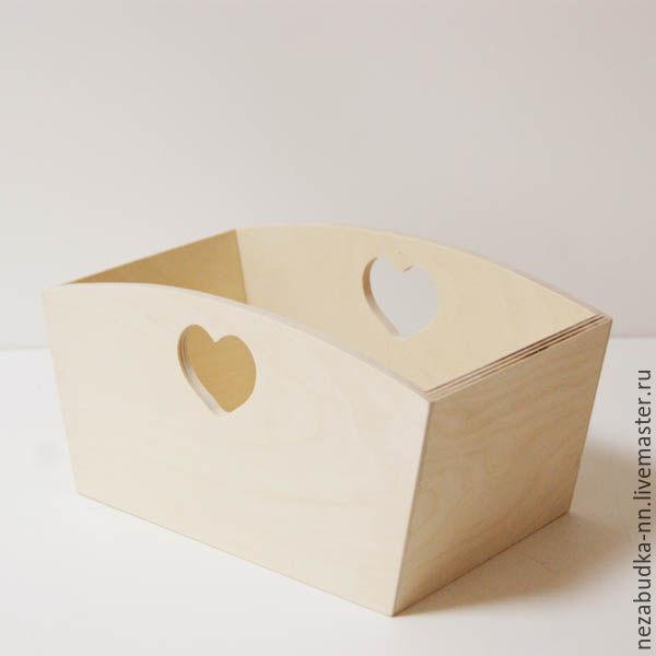 ручной работы. Ярмарка Мастеров - ручная работа. Купить Ящик с сердцем 23х16х14. Handmade. Подставка, оригинальный, корзинка, деревянная заготовка