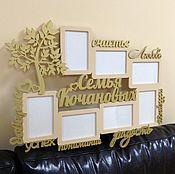 """Подарки ручной работы. Ярмарка Мастеров - ручная работа Фото рамка """" Семья именная """". Handmade."""