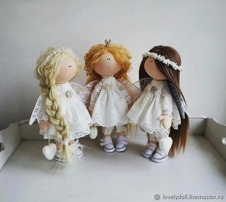 Angels are different need a handmade Textile doll, Dolls, Kiev,  Фото №1