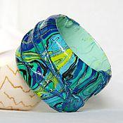 """Украшения ручной работы. Ярмарка Мастеров - ручная работа Браслет """"Изумрудная волна"""". Handmade."""