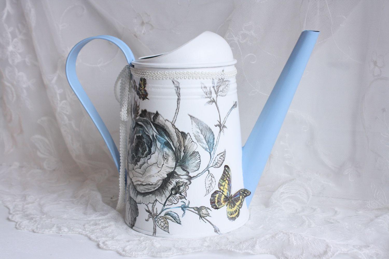 """Браслеты ручной работы. Ярмарка Мастеров - ручная работа. Купить Лейка """"гжель"""". Handmade. Лейка, ваза с цветами, декупаж шкатулки"""