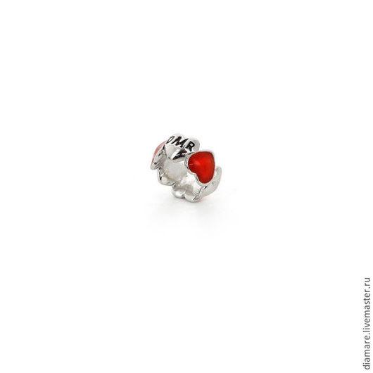 Арт. 05-0232. Серебряный шарм `Сердечная миниатюра`.