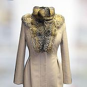 Пальто ручной работы. Ярмарка Мастеров - ручная работа Пальто зимнее с меховой отделкой. Handmade.