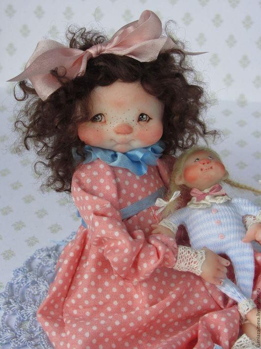 """Коллекционные куклы ручной работы. Ярмарка Мастеров - ручная работа. Купить """"Милли"""". Handmade. Розовый, кукла с куклой, кружево"""